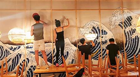 Japanese paintings ukiyo e The Great Wave off Kanagawa
