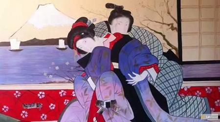 Japanese paintings ukiyo e persons