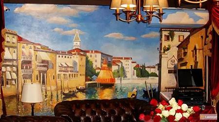 Mediterranean Italian Coastal Landscapes Mural Paintings for Villa Project 1