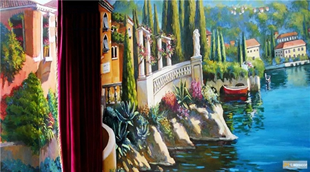Mediterranean Italian Coastal Landscapes Mural Paintings for Villa Project 2