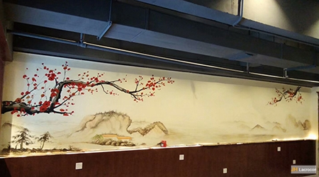 chinese traditional gongbi Cherry Blossoms