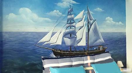 sailing boat seascape