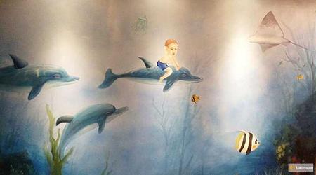 sea life ride on dolphine